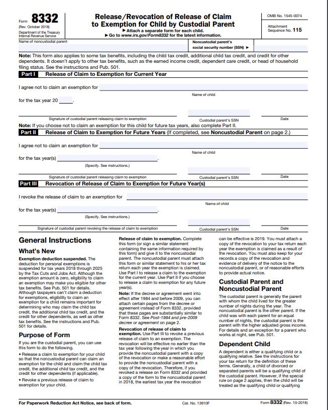 Form 8332  